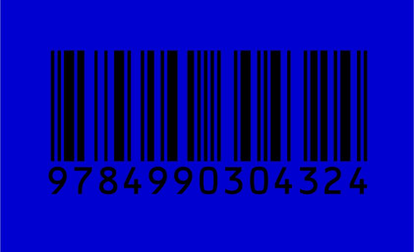 バーコード 背景色 青