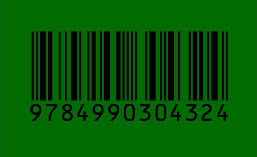 バーコード 背景色 緑