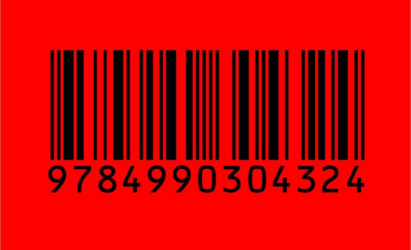 バーコード 背景色 赤