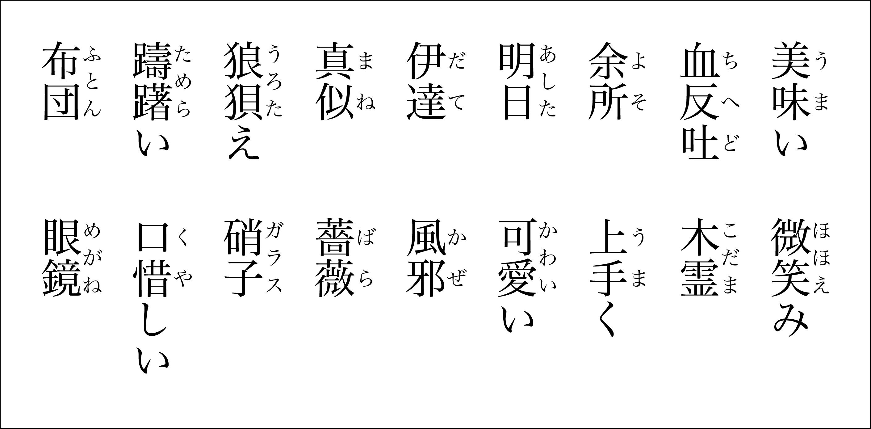 縦書き文字